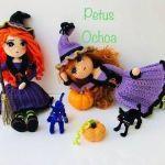 Muñeca amigurumi bruja patrón gratis