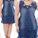 Vestido de tubo jeans con recortes