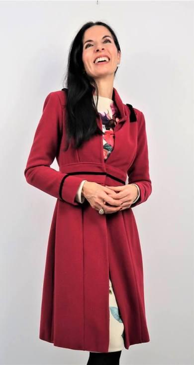 DIY Abrigo rojo forrado