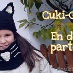 DIY Gorro y cuello de gato a crochet
