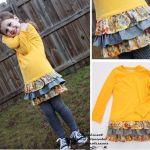 Transformar un suéter infantil a vestido para niña