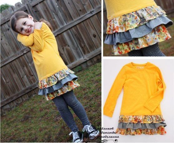 Reciclar un suéter infantil a vestido para niña