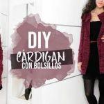 DIY Cardigan chaqueta con bolsillos