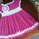 Vestido niñas tejido a crochet