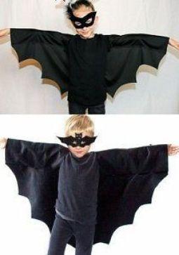 Capa y máscara de murciélago para disfraz infantil
