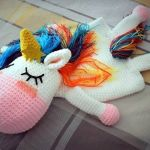 Unicornio guarda pijamas a crochet