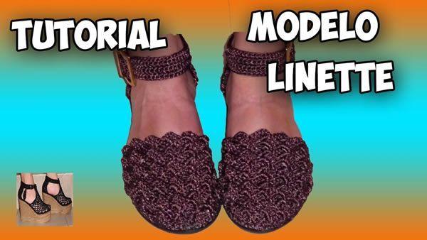 Zapatos tejidos a crochet modelo Linette
