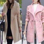 Abrigo o chaqueta con cuello entero