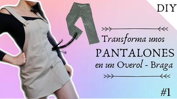 DIY Transformar unos pantalones en overol