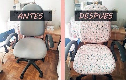 DIY Tapizar una silla de oficina | Patrones gratis