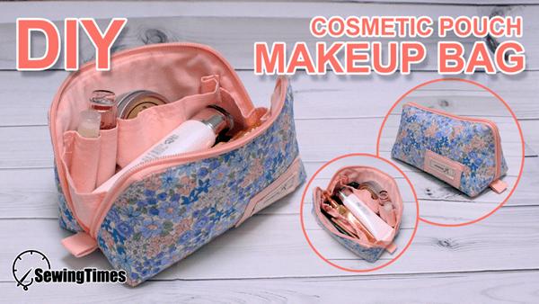 Cómo hacer bolsa de maquillaje con patrón