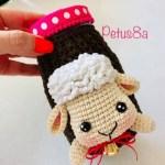DIY Porta tazas ovejita a crochet y amigurumi