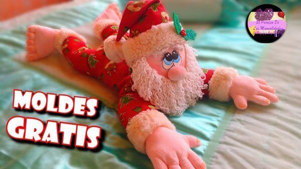 Cojín guarda pijamas Papá Noel