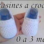 Mocasines a crochet para bebé