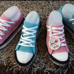 DIY Tenis converse tejido a crochet