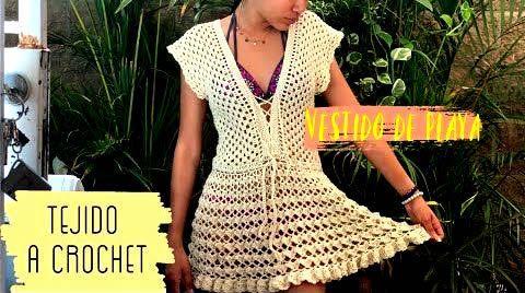 Vestido de verano tejido a crochet