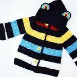 DIY Abrigo para niño tejido a crochet