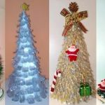 Hacer arboles de navidad reciclando