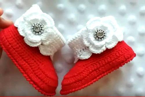 Botitas para bebe a Crochet