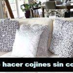 DIY Cojines decorativos sin coser