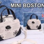 DIY Mini bolso Bostón con patrones