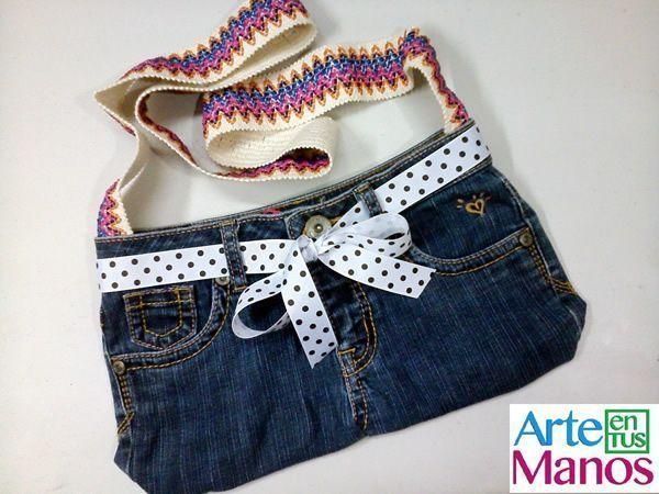 Reciclar pantalón vaquero y convertir en bolso