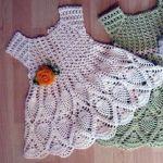 DIY Vestido para bebés a crochet