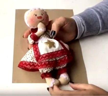 Muñeca de tela Galleta de Navidad
