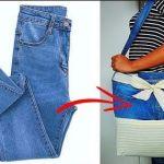 Bolso reciclando unos vaqueros o Jeans