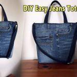DIY Bolso vaquero jeans fácil con bolsillos