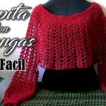 DIY Capa con mangas a crochet muy fácil