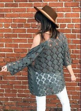 Chaqueta súper fácil tejida a crochet