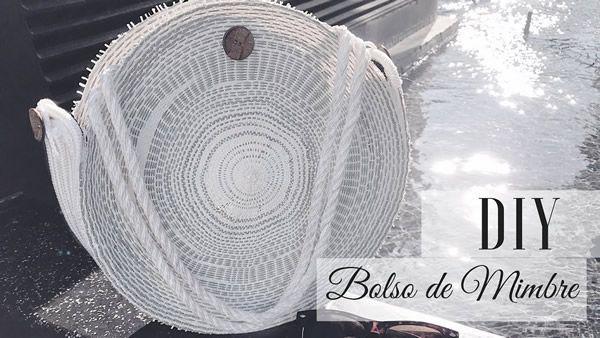 DIY Bolso de mimbre redondo