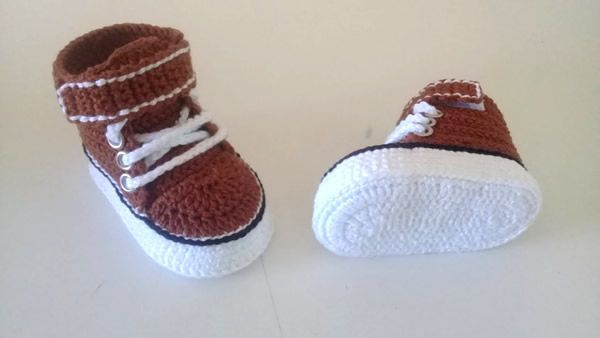 DIY Zapatitos tejidos a crochet
