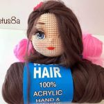 Pelo sintético para muñecas amigurumi