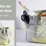 DIY Canasta de tela con asas para tus labores