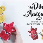 Muñecos amigurumi Ketchup y Mostaza