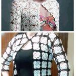 DIY Chaqueta cardigan granny tejido a crochet