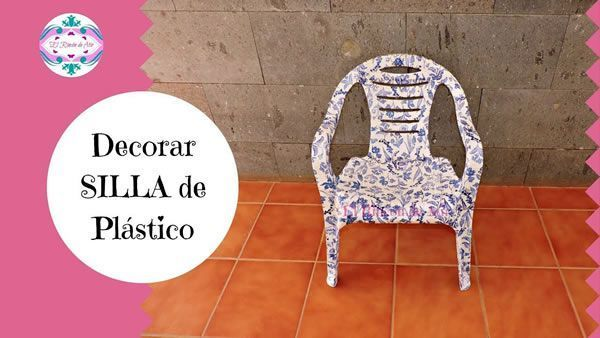 DIY Como decorar una silla de plástico