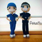 Muñeco enfermero en amigurumi