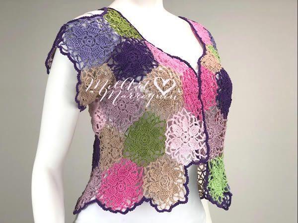 DIY Bolero a crochet fácil paso a paso