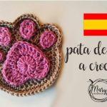 DIY Posavasos huellas de perro a crochet