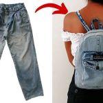 DIY Mini mochila jeans reciclando