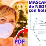 Mascarilla de tela Neopreno sin Gomas Patrón PDF