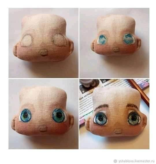 DIY Mini muñeca de tela DIY para pintar la cara