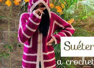 Suéter a crochet purpura paso a paso