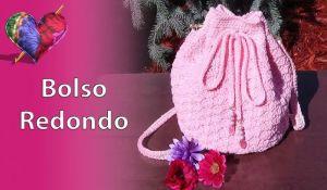 Bolso redondo tejido a crochet paso a paso