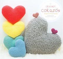 Corazón amigurumi fácil con patrón