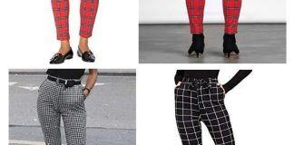 Pantalón pitillo ajustado con patrón