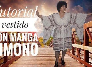 Vestido con manga kimono